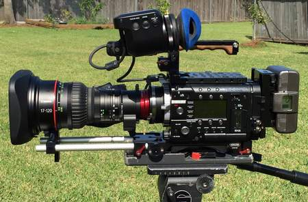 Sony F55 CineAlta 4K Digital Cinema Camera with AXS-R5 Recorder and Canon Cine-Servo 17-120mm Zoom Lens